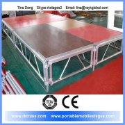 RK portable outdoor stage with truss system