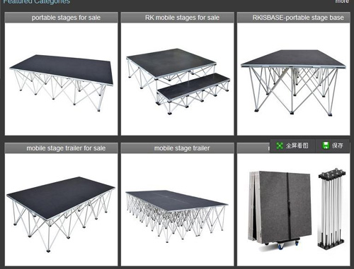 Two kinds of portable stage for sale wholesale