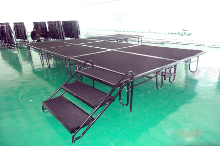2014 hot selling stage equipment with folding riser for sale
