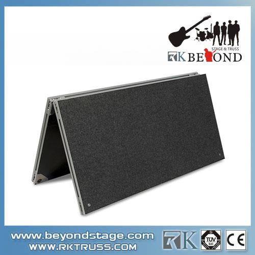 Folding platform for building portable stage