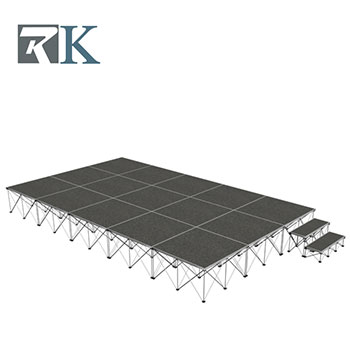 Portable stage with stage step for sale