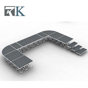 Light aluminum portable stage system manufacturer