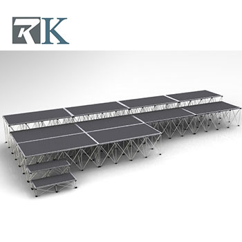 Adjustable portable mobile stage for church events