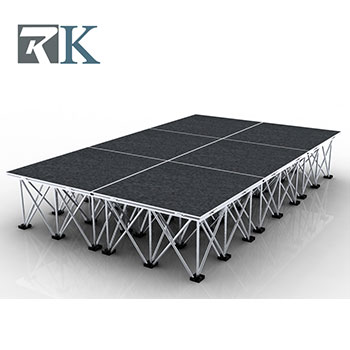 Portable stage design for small show events