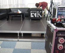 portable stage is perfect equipment to help you to host event