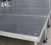 to build portable stage platform from small to large within several hours