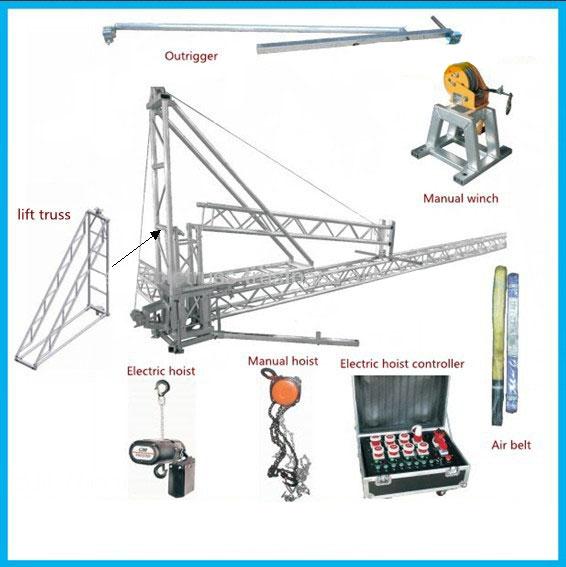 lighting roof truss system