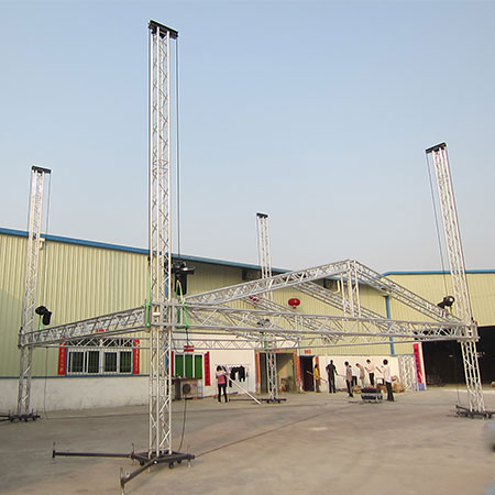Special stage roof truss systems design by Rack company