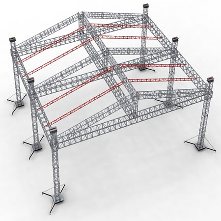 Aluminum stage truss circle roof truss system lighting truss