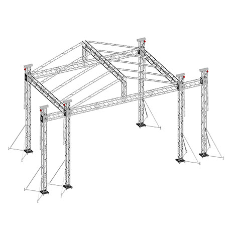 Lighting truss 6082-T6 truss system with roof on sale