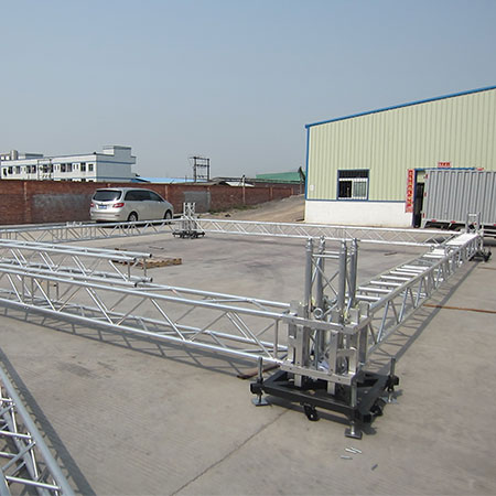 Beyond bolt aluminum stage truss roof system for Truss roof system