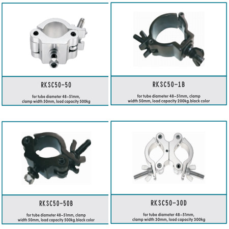 Aluminum spigot stage truss connection accessories
