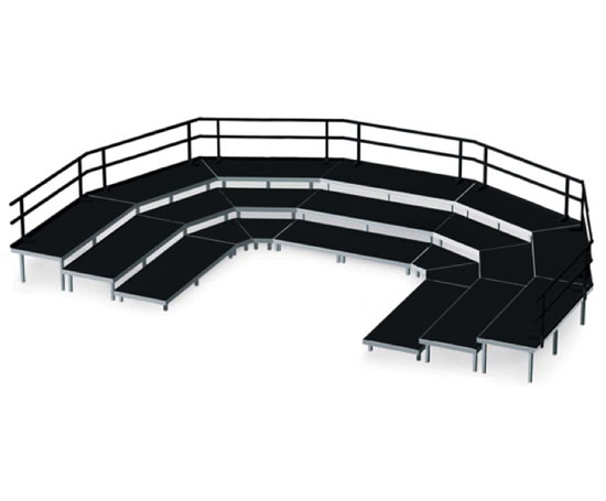 Adjustable portable mobile outdoor stage