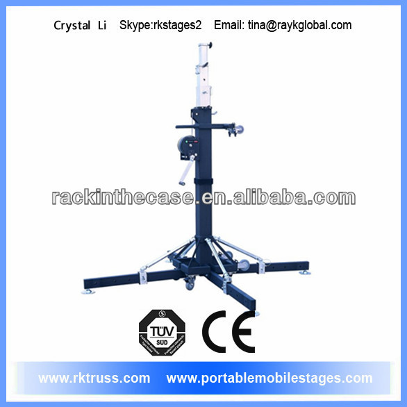 Light aluminum stage stand truss system