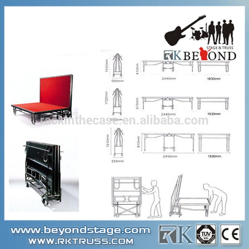 Hotel Removable Folding Aluminum Stage Platform