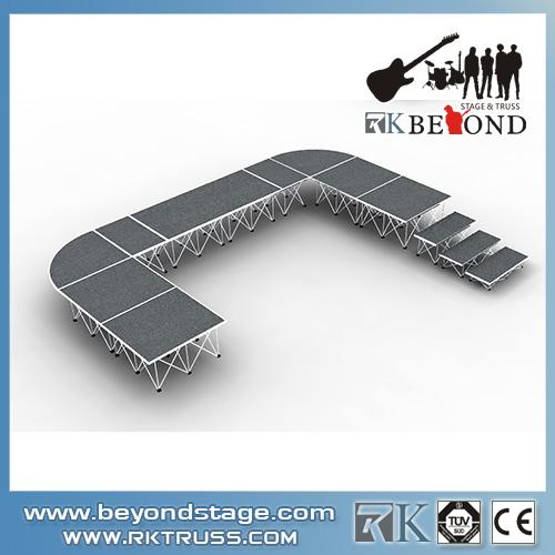 Light aluminum portable stage system rental