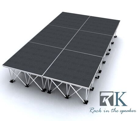 Portable stages system rental for band shows