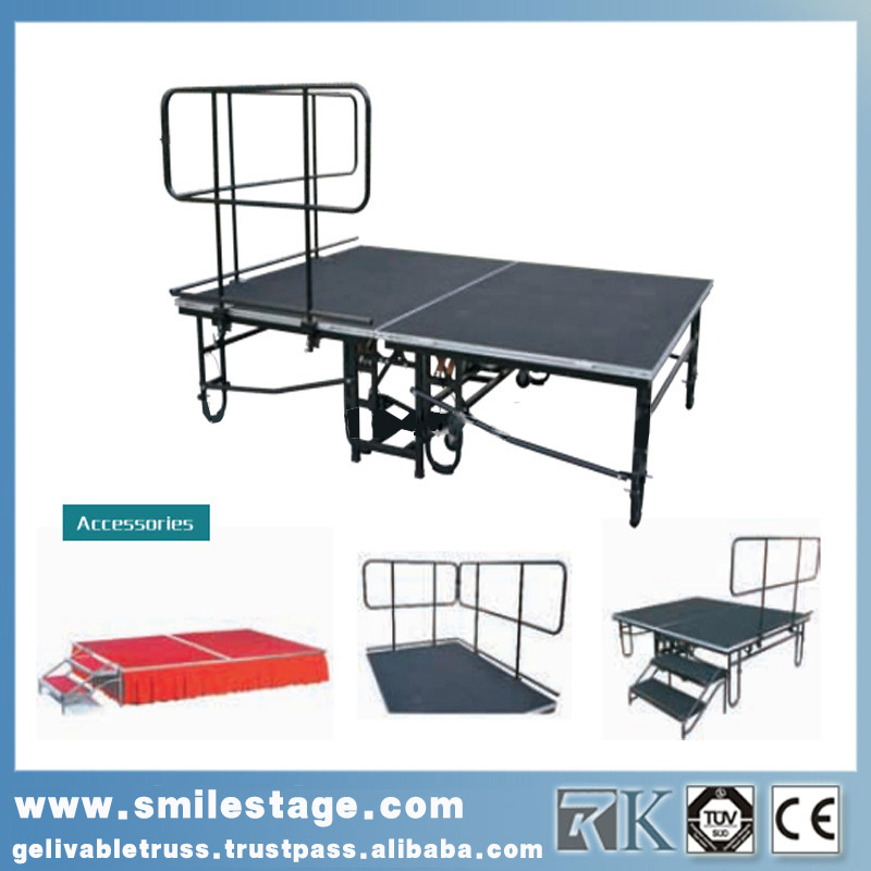 Mobile aluminum folding stage for sale