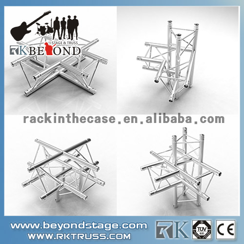 Stage truss system corners for stage system