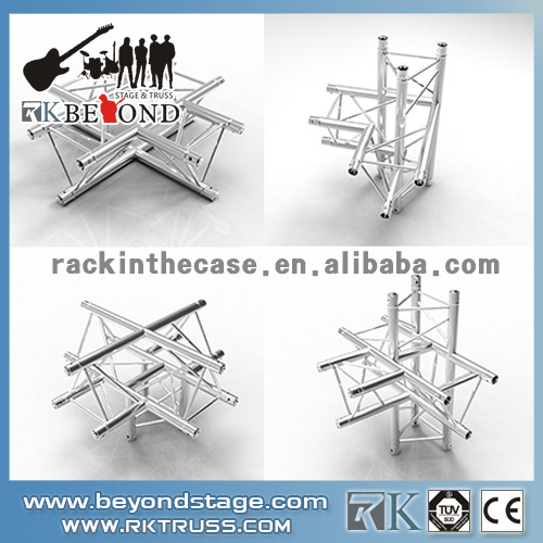 Stage truss corners for stage truss system