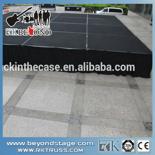 Stage skirt for outdoor stage system