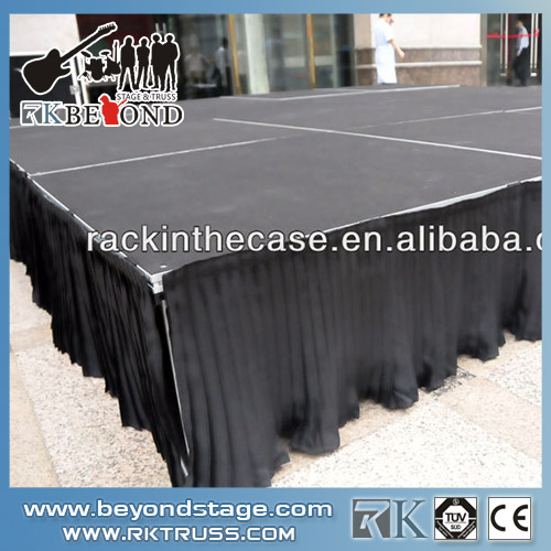 Stage skirt and curtain used for stage building