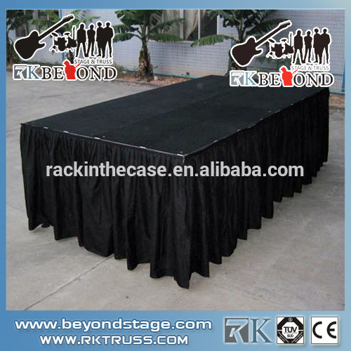Used stage skirt and curtain for stage system on sale