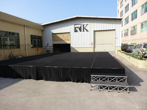 Portable stage system for sale and rental
