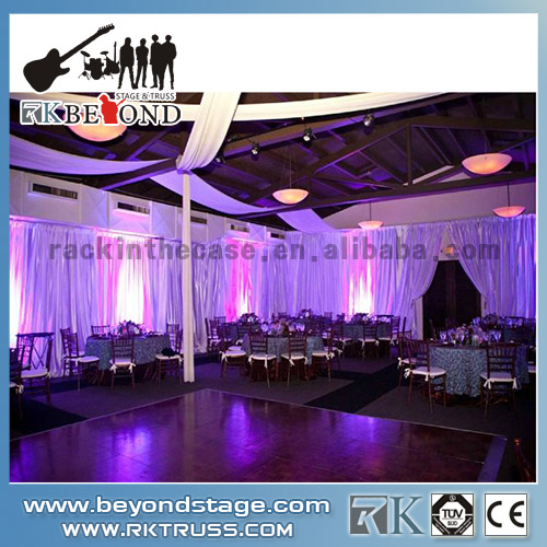 Portable stage backdrop system for stage events