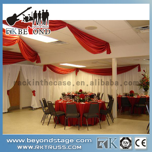 Stage backdrop used for portable stage events