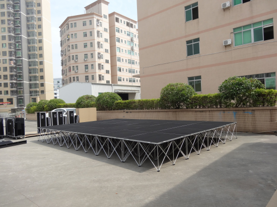 Durable and cheap portable stage system for sale and rental