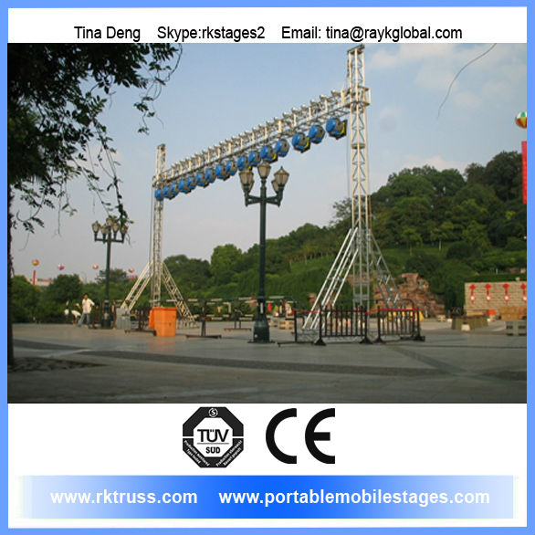 Stage truss rigging for truss events