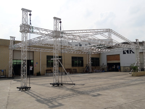 Stage truss rental and for sale