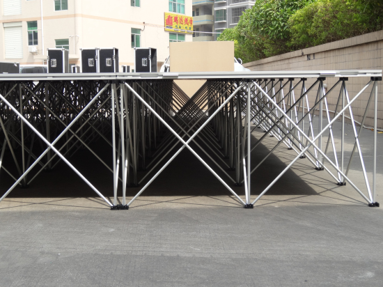 Used portable stage system risers for sale
