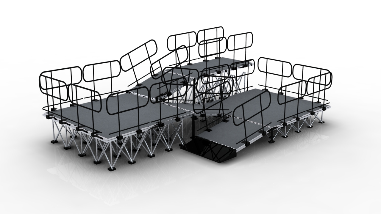 Portable stage ramps system on sale and  rental