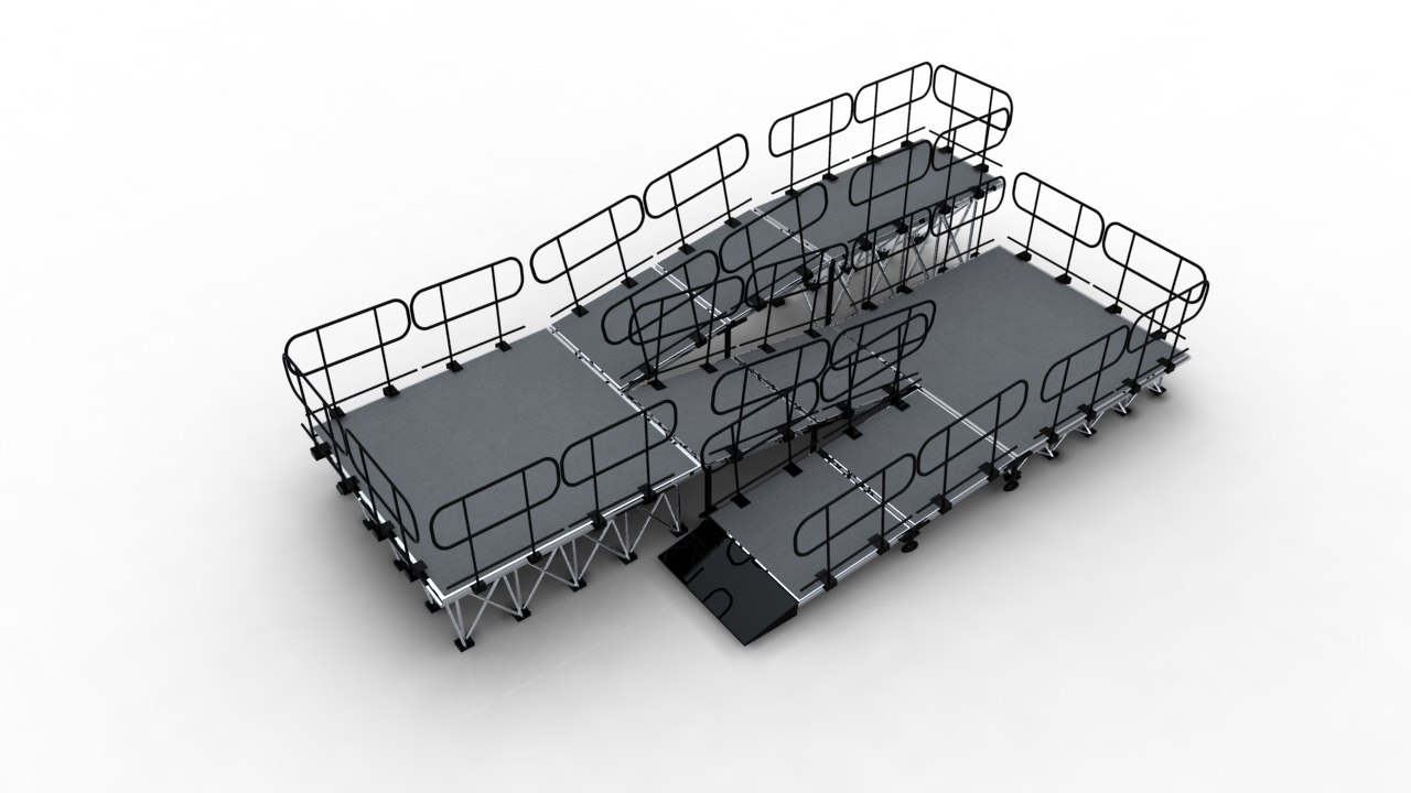 Hot stage ramps system on sale from China