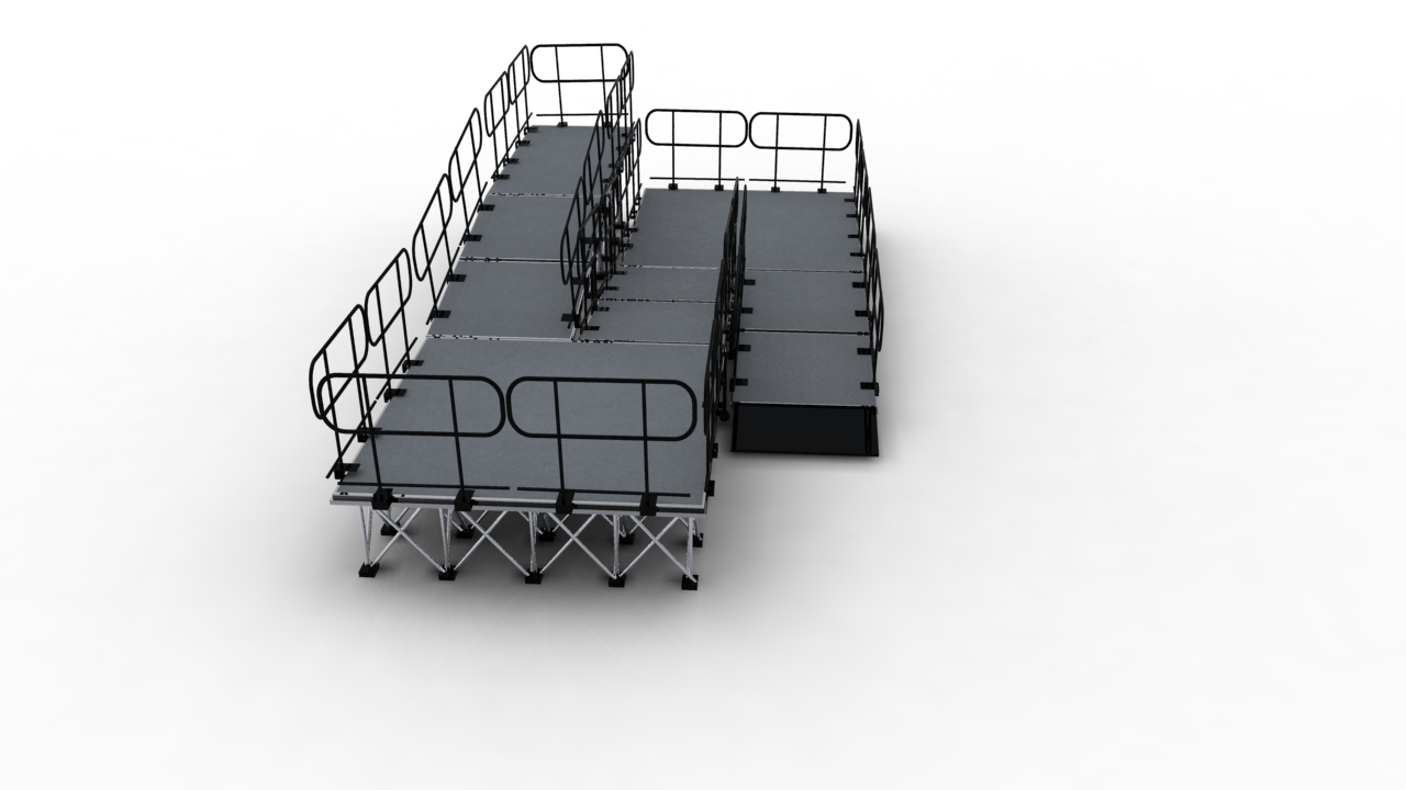 Stage ramps for portable stage system wholesale