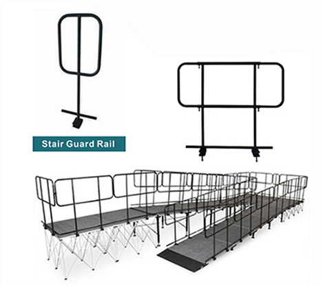 Outdoor portable stage system guard rails for sale