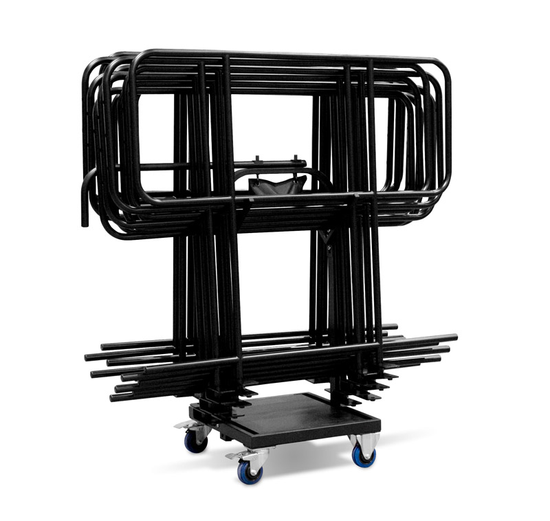 Portable stage guard rails for stage events