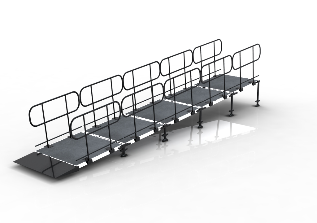 2014 on sale high quality portable stage with ramps