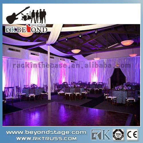 Stage backdrop system rental
