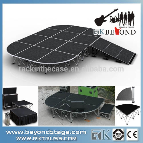 Hot Sale Portable Mobile Event Stage,Trailer School Portable Stage