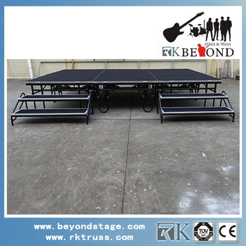 Easy assemble folding stage for Christmas show