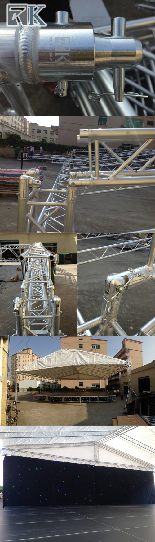 spigot truss, show stage, stage for sale