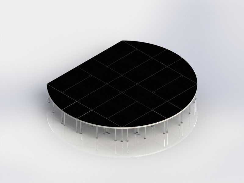 Customized Circular Portable Stage Platform With