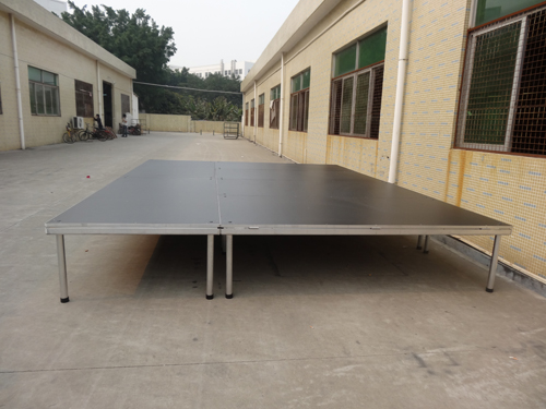 Used 4-legs aluminum stage for stage events Australia