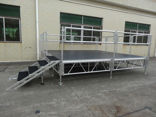 Adjustable aluminum portable stage on sale