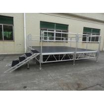 Adjustable aluminum portable stage on sale