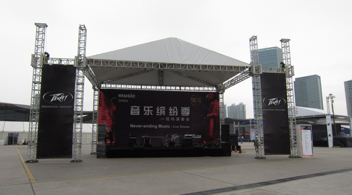 Strong aluminum stage for outdoor events manufacturer