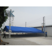 Global spigot steel stage truss displays